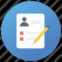 personal description, personal info, personal information, personal profile, user data icon