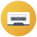 audio cassette, cassette, compact cassette, magnetic tape, musical instrument icon