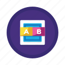 ab, analysis, experiment, hypothesis, research, test, testing icon