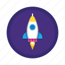 business, campaign, launch, launching, rocket, spaceship, startup icon