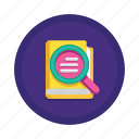 book, case, education, knowledge, learning, library, study icon