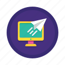 content, delivered, delivery, email, posted, published, sent icon