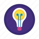 bulb, creative, design, energy, idea, light bulb, lightbulb icon