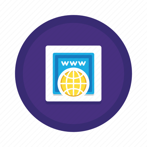 Domain, registration, address, url, web, website, www icon - Download on Iconfinder