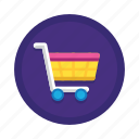 basket, cart, checkout, ecommerce, online, shopping, trolley icon