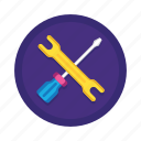 bug, fix, maintenance, repair, screwdriver, tool, wrench icon