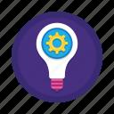 bulb, creative, feasible, idea, lamp, light, marketing icon
