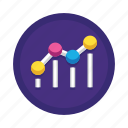 analysis, benchmark, chart, optimization, search, seo, trend icon