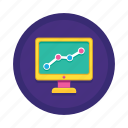 analysis, chart, forecast, monitoring, seo, statistics, trend icon