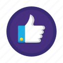 awesome, good, great, integration, like, social, thumbs up icon