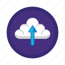 cloud, computing, data, media, social, storage, upload icon