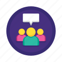 feedback, focus, group, marketing, media, social, survey icon