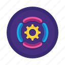 cog, gear, options, preferences, services, settings, support icon
