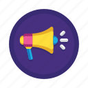 advertising, loudspeaker, marketing, megaphone, sound, speaker, viral icon