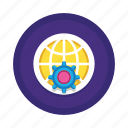 cog, development, global, options, preferences, settings, web icon