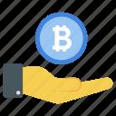 bitcoin fund, bitcoin income, bitcoin savings, cryptocurrency budget, passive income icon