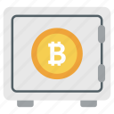 bank locker, bitcoin locker, bitcoin security, financial safety, savings bitcoin icon