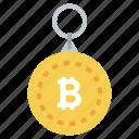 bitcoin keychain, bitcoin keyring, btc keychain, btc keyring, cryptocurrency keyring icon