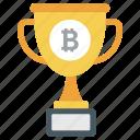 award trophy, bitcoin trophy, blockchain trophy, winner cup, winning cup icon