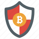bitcoin protection, bitcoin safety, bitcoin shield, cryptocurrency protection, secure bitcoin icon