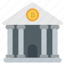 bitcoin bank, bitcoin building, bitcoin institute, cryptocurrency bank, financial institute icon