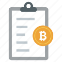 bitcoin document, bitcoin file, bitcoin paper, blockchain file, cryptocurrency file, document icon