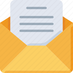 document, email, envelope, letter, mail, message, note icon