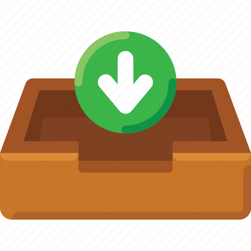 Arrow, box, email, inbox, input, mail, message icon - Download on Iconfinder