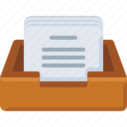 box, email, inbox, letter, mail, message, paper icon