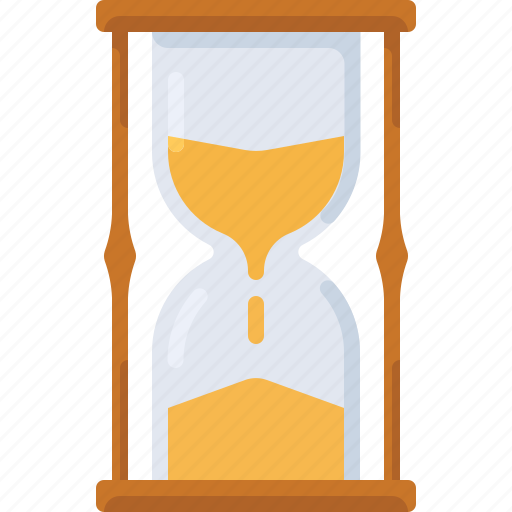 glass, hourglass, sand, time, timer, watch icon