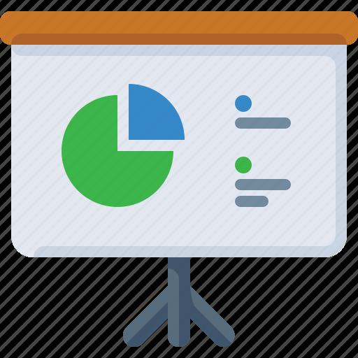 chart, data, piechart, presentstion, show icon