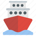 boat, cargo ship, cruise ship, ship, vehicle, water transport icon