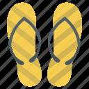 casual footwear, flip flops, footwear, home slippers, slippers icon