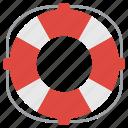 life belt, life preserve, lifebuoy, lifesaver, safety vest icon
