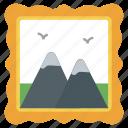 landscape, natural landscape, painting, photograph, picture, scenery icon