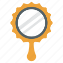 beauty, hand mirror, looking glass, mirror, vanity mirror icon
