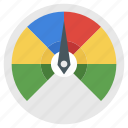 dashboard, gauge, odometer, performance evaluation, speedometer icon