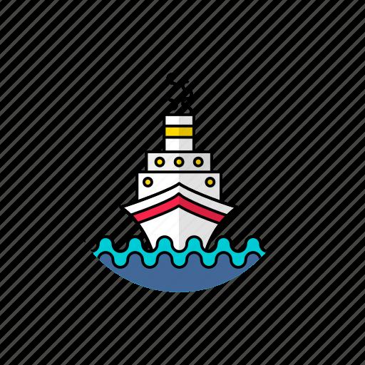 boat, craft, cruz, marine, ship, stimmer, titanic icon