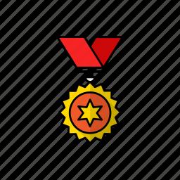 badge, champion, goldmedal, medal, medalist, reward, top icon