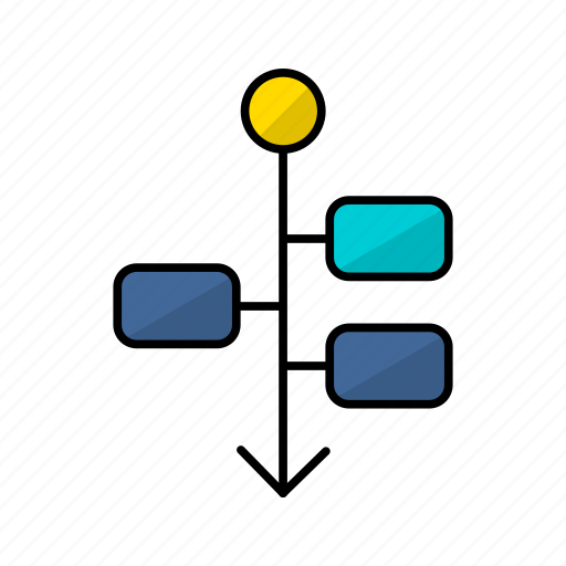 chart, diagram, draft, flowchart, flowsheet, graph, timeline icon
