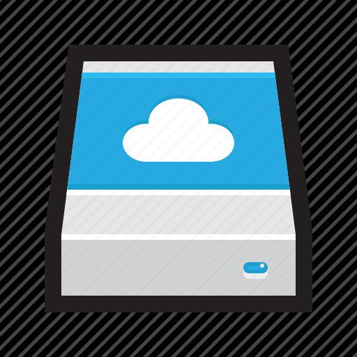backup, cloud, drive, external, remote, storage, sync icon