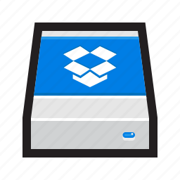 backup, cloud, drive, dropbox, external, hdd, remote icon