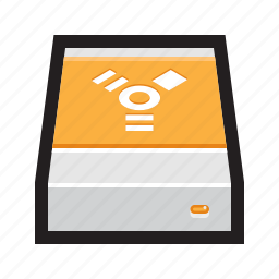 disk, drive, external, firewire, hard, hdd, storage icon