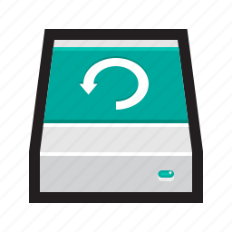 backup, cloud, drive, external, machine, time icon