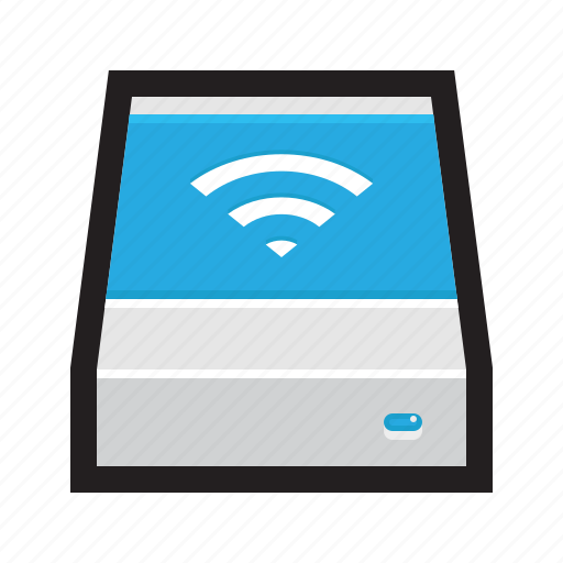 airport, backup, drive, external, hdd, network, wireless icon