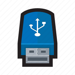 drive, flash, pen, stick, storage, thumb, usb icon