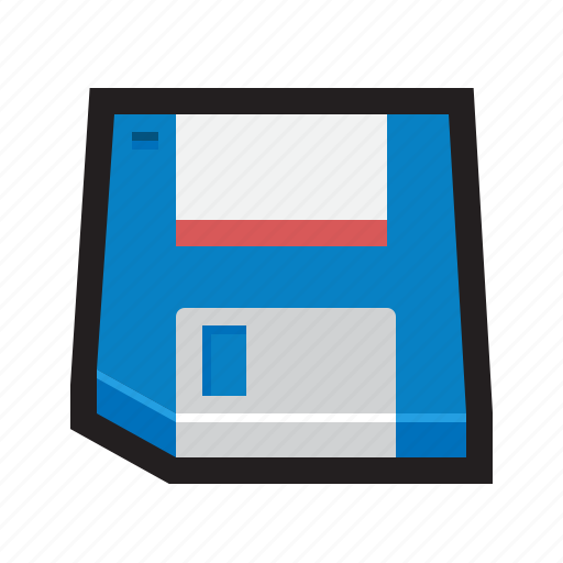 disk, diskette, drive, file, floppy, storage icon