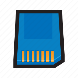 card, digital, flash, memory, sd, sd card, secure icon