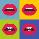 art, lips, love, pop, popart, sex, worhall icon