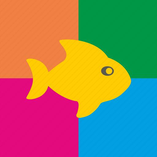 art, fish, paint, pop, worhall icon